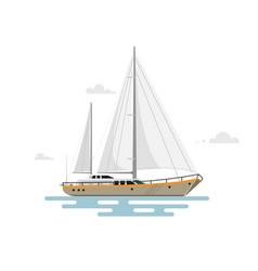 Flat yacht vector