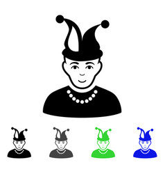 Fool flat icon vector