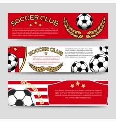 Footbal banners set vector