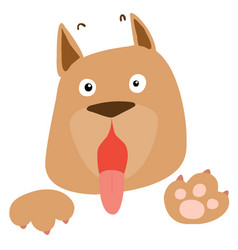 frightened brown dog on white background vector image