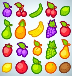 Fruits icons full vector