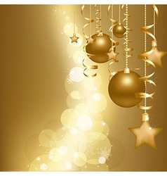 Gold christmas card vector