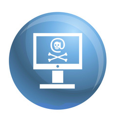 hacked computer icon simple style vector image