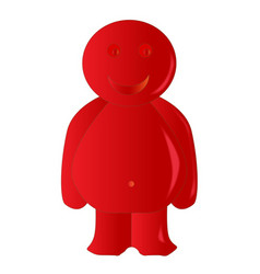 Happy red jelly baby vector