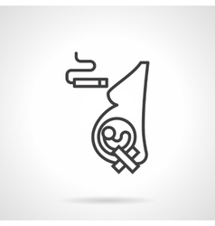 Harm of smoking for pregnancy line icon vector image