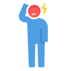 headache flat vector image