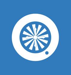 Icon casino roulette wheel vector