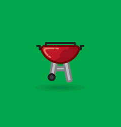 icon on barbecue for picnic vector image
