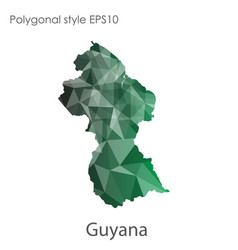 Isolated icon guyana map polygonal geometric vector