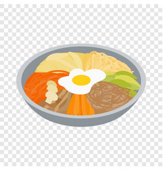 Korean food isometric icon vector
