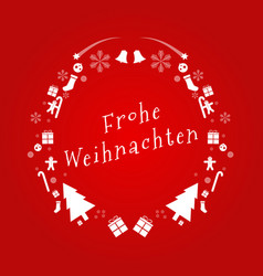 merry christmas text in german design card vector image