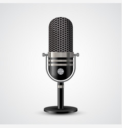 microphone on white background vector image