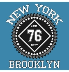 New york Brooklyn typography t-shirt vector image vector image