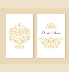 ornamental decorative frame luxury floral vector image