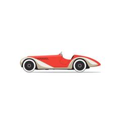 Red retro car vector