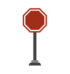 roadsign symbol isolated vector image