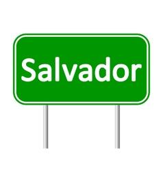 Salvador road sign vector