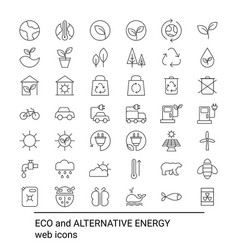 set of ecology icons set of ecology icons vector image