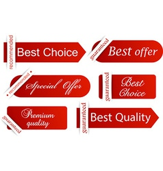 Set of red flat banners vector image