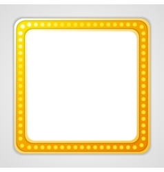 Shining blank square retro light banner vector