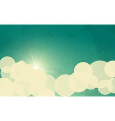 Sky with Sun and Clouds vector
