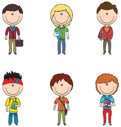 Smart students vector