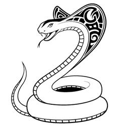 Snake tribal tatto vector