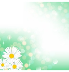 Spring green bokeh background vector image