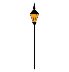 street light hand drawn design on white vector image