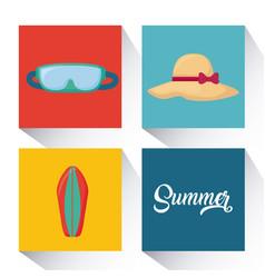 Summer season design vector