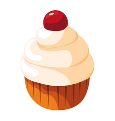sweet cupcakes design vector image