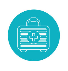 Symbol first aid kit medications tools vector