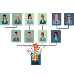 Top-Heavy Organizational Structure vector