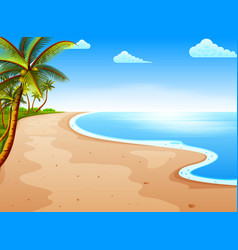 tropical beach view with the beautiful blue vector image