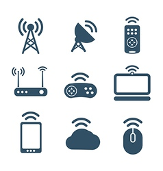 Wireless equipment icons collection vector