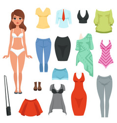 women s clothing items set formal and casual vector image