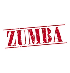 Zumba red grunge vintage stamp isolated on white vector