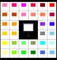 blank projection screen felt-pen 33 vector image vector image