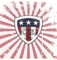 Happy Presidents Day Shield Sign vector image vector image