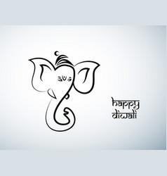 hindu festival diwali vector image