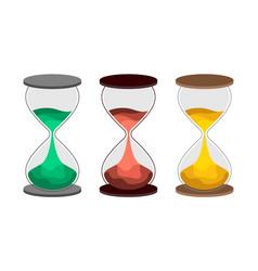 hourglass flat vector image vector image