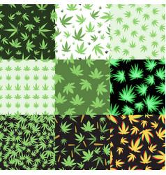 marijuana seamless pattern vector image