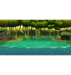 Underwater background Landscape For web mobile vector image vector image