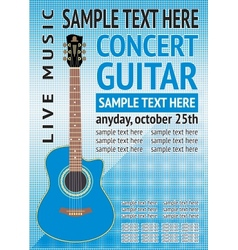 concert guitar vector image