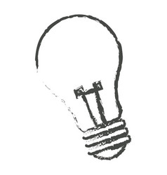 Sketch bulb light electric lamp vector