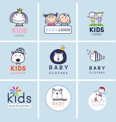 creative signs symbols and logo set brand vector image
