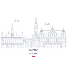 gdansk linear city skyline vector image vector image