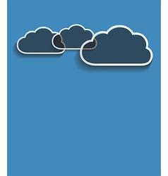grey clouds vector image vector image