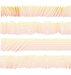 Isolated abstract pink color wavy stripes vector image
