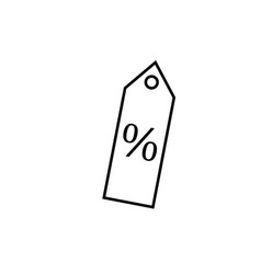 percent tag icon vector image vector image